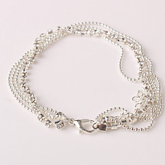 Femme Bracelet de cheville/Bracelet Strass Imitation Diamant Alliage Original Mode Multicouches bijoux de fantaisie Bijoux Bijoux Pour