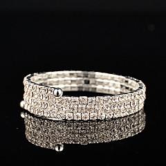 Dame Sølv Personlig Perle-Samling Armbånd Rhinsten