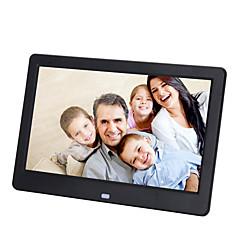 10 pouces cadre photo numérique 1024 * 600 usb 2.0 avec horloge / musique & support de jeu vidéo 14 langues du pays