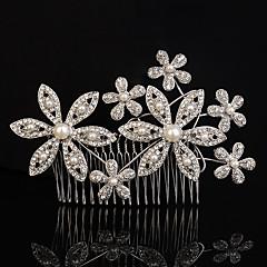 Vrouwen Bergkristal / Kristallen / Licht Metaal / Imitatie Parel Helm-Bruiloft / Speciale gelegenheden / Buiten Haarkammen 1 StukHelder /