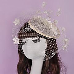 Vrouwen Vlechtwerk / Vlas / Net Helm-Bruiloft / Speciale gelegenheden / Informeel / Buiten Fascinators 1 Stuk
