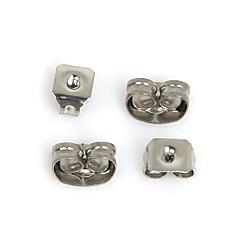 beadia 400pcs nierdzewne earnuts kolczyk zatyczkę biżuterii ustaleń naszyjnik pasuje&bransoletka (mieszane 2 rozmiary)