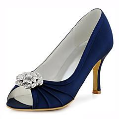 סנדלים-נשים-נעלי חתונה-עקבים / נעלים עם פתח קדמי-חתונה / שמלה / מסיבה וערב-כחול / ורוד / כחול ים