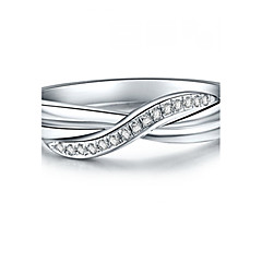 T Brand Wedding Band Ring Elegant Women Jewelry Solid 925 Silver Twist Style