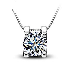 Halsband Kristall / Cubic Zirconia Dam Gåva / Dagligen Silver