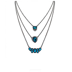 Fashion Multilayer Long Necklace Water Droplets