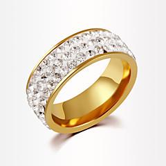 Anillos Unisex Diamantes Sintéticos Aleación Aleación 6 / 7 / 8 / 9 / 10 Oro / PlataLos colores de embellecimiento se muestran en la