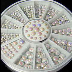 マニキュア白AB電気めっきダイヤモンドディスク6cm12格子マニキュア回転ディスク
