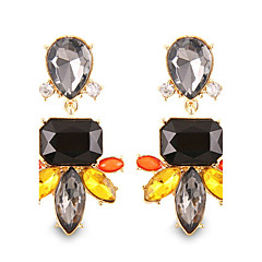 Personality Hyperbole Gorgeous Black Crystal Drop Earrings High-end Jewelry