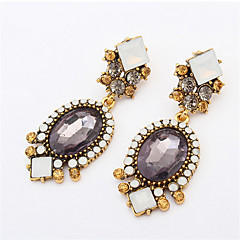 Flash Diamond Luxury Crystal Oval Wild Earrings