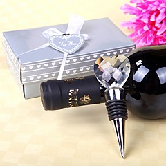 Beter Gifts® Recipient Gifts - Crystal Heart Design Wine Bottle Stopper Tea Party Souvenirs