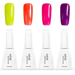Nail Polish Gel UV 12 4 Purpurina / Gel de Côr UV / Gelinho / Neutro / Cintilante Mergulhe off de Longa Duração