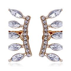 Classic Transparent Crystal Eyelashes Diamond Small Crown Ear Clip