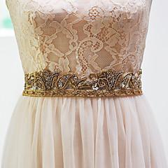 """Elastický satén Svatba Šerpa-Korálky Dámské 250 cm (98 ½"""") Korálky"""