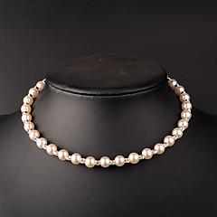 Women's Imitation Pearl Necklace Gift / Daily / Causal / Office & Career Imitation Pearl / Rhinestone