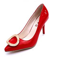 נעלי נשים-בלרינה\עקבים-עור פטנט-עקבים-שחור / ורוד / אדום / לבן / אפור-חתונה / מסיבה וערב-עקב סטילטו