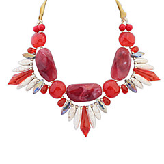 Summer Style Colorful Necklace Exaggerated Gem Jewelry Accessories Beach Pictures