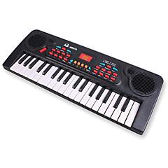 órgão eletrônico plástico aleatório brinquedo / música branco vermelho / preto para as crianças