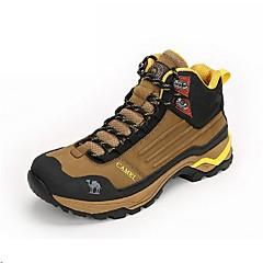 Tênis de Caminhada Sapatos de Montanhismo Homens Anti-Escorregar Almofadado Anti-desgaste Vestível Ao ar Livre Cordões Cano AltoPele