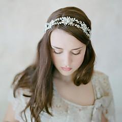 Vrouwen Bergkristal / Licht Metaal / Vlechtwerk Helm-Bruiloft / Speciale gelegenheden / InformeelHoofdbanden / Bloemen / Hoofdketting /