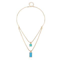 Modische Halsketten Anhängerketten Schmuck Alltag Modisch / Stil Aleación Goldfarben 1 Stück Geschenk