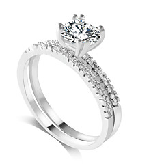 Ring Fashion Wedding / Party / Daily / Casual Jewelry Alloy / Zircon Women Band Rings 1set,6 / 7 / 8 / 9 Gold / Silver