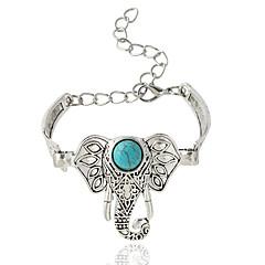 Dames Armbanden met ketting en sluiting Bohemia Style Legering Dierenvorm Zilver Sieraden Voor 1 stuks
