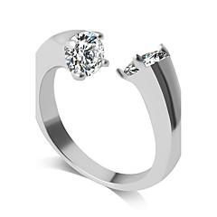 Anéis Fashion Casamento / Pesta / Diário / Casual Jóias Liga Feminino Anéis Grossos 1pç,Ajustável Prateado