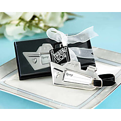 "Chrome ""Bon Voyage"" Silver-Finish Sailboat Travel Tag, Luggage Tag, Place Card Holder Wedding Favors"