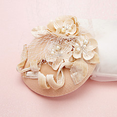 Women's Pearl / Crystal / Tulle / Flannelette Headpiece-Wedding / Special Occasion Fascinators / Hats 1 Piece