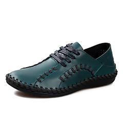 Bărbați Pantofi Flați Primăvară Toamnă Confortabili PU Casual Toc Plat Albastru Cafeniu Altele
