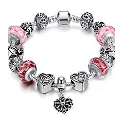 Heren Dames Bedelarmbanden Strand Armbanden ID Armbanden Duurzaam Modieus Verzilverd Ronde vorm Sieraden Voor Bruiloft Feest Dagelijks