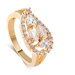 Anéis Estilo Casamento Jóias Liga Feminino Anéis Meio Dedo 1pç,8 / 9 / 8½ / 9½ Dourado / Prateado