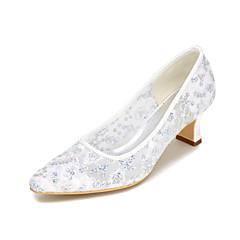 Unisex Heels Spring / Summer / Fall Heels / Square Toe Glitter Wedding / Party & Evening