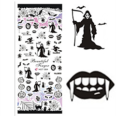 1 pcs Nail Art Water Transfer Halloween Sticker Colorful Image Nail Beauty HOT304