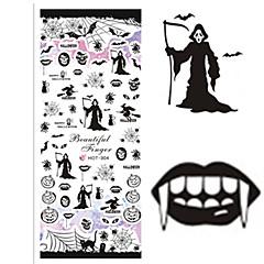 1 Neglekunst Klistermærke Halv Negle Tipper Hel Negle Tipper Vandoverførende decals Negle Smykker Tegneserie Smuk Makeup Kosmetik