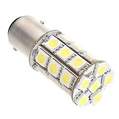 2pcs py21w p21 / 5W 1157/7443 27smd 5050 levou bulbo branco carro lâmpada luzes de freio luzes traseiras semáforos