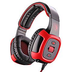 Sades SA-906i ヘッドホン(ヘッドバンド型)Forメディアプレーヤー/タブレット / コンピュータWithマイク付き / DJ / ボリュームコントロール / FMラジオ / ゲーム / スポーツ / ノイズキャンセ / Hi-Fi