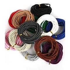 beadia 3mm kerek, fonott pu bőr kábelt kötelet string diy ékszer nyaklánc karkötő kézműves készítés (5mts)