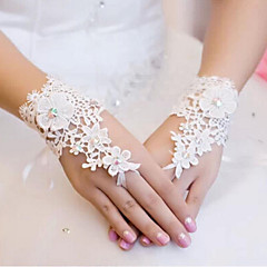 Wrist Length Fingerless Glove Lace Bridal Gloves Spring / Summer / Fall