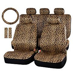 autoyouth luksus leopard print bil setetrekk og 15 universell ratt bilsete protector