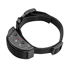 honden blafhalsband Anti-blaffen / Verstelbaar/Uitschuifbaar / Elektronisch/Electrisch / Trilling Effen Zwart Nylon