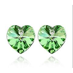 עגיל Heart Shape תכשיטים 1 זוג אופנתי יומי סגסוגת נשים כסף