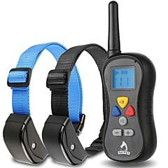 honden blafhalsband / Hondentrainingshalsbanden Anti-blaffen / Waterdicht / Trilling / LCD / 300M / Afstandsbediening Effen Zwart