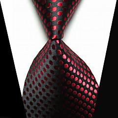 קליפס קשירה אופנתי תכשיטים שחור אדום בד בגדי ריקוד גברים Tie Bar-