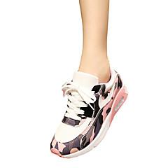 Damen-Sneaker-Lässig-Tüll / PU-Flacher Absatz-Komfort / Mary Jane-Schwarz / Blau / Rosa