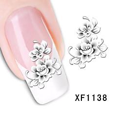 1 Neglekunst klistremerke Vann Overføre Dekor Blomst Sminke Kosmetikk Neglekunst Design