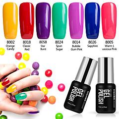 Nagellack UV Gel 7ml 7 Ablösen / Glitzer / UV Farbgel / schimmernd / Gelee / NEUTRAL Tränken weg von Long Lasting
