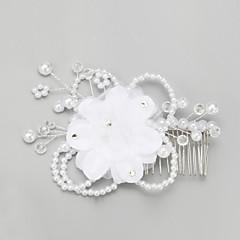 Women's Crystal Chiffon Leatherette Headpiece-Wedding Special Occasion Headbands 1 Piece