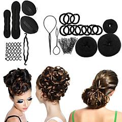 8 tyyppi magic braiders alkuunsa pää kuulapää levy donitseja lautasen hiukset kampaamo työkalut naisille hiukset tarvikkeet